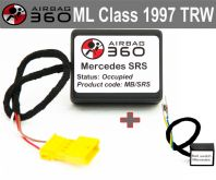 Mercedes ML 1997  Front Seat Passenger Seat Mat Occupancy recognition sensor emulator bypass